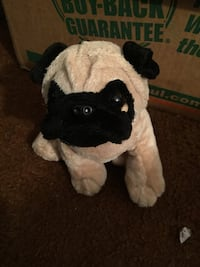white and black dog plush toy South Bend, 46616
