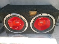 black and red Xplod subwoofer Socorro, 79928