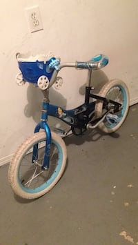 Toddler's blue and white bicycle .Size 16 Winnipeg, R2M 1E6