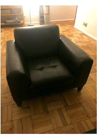 black leather padded sofa chair Washington, 20016
