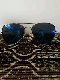 Ray Bans with blue lens and silver frame Windsor