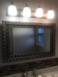 rectangular mirror with silver-colored frame Richmond
