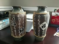 Asian themed vases