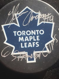Autographed Glen Anderson Official NHL Puck Toronto, M4V 2C1