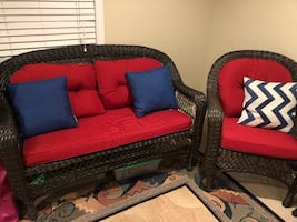 New Patio/ porch wicker set