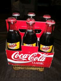 CoCA COLA CLASSIC MIXED BOTTLES RARE 6 PACK LOOK AT MY PICTURES