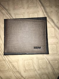 black and gray leather bi-fold wallet Lindsay, 93247