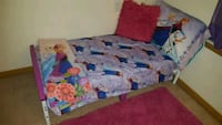 Frozen toddler bed complete with matching comforter and set