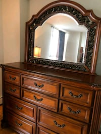 brown wooden dresser with mirror 723 km