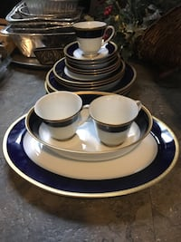 China Noritake legacy colbolt blue and gold 2799  17 pieces    South Grafton, 01560