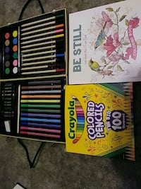 Art set new never used colored pencils and books  Hartselle, 35640