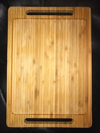 Authentic Bamboo Wood Cutting Board/Serving Tray - NEW