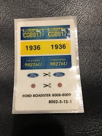 Stickers for model Ford - Roadster - 1936 Weston, 33326