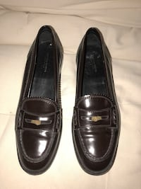 pair of black leather loafers Guttenberg, 07093