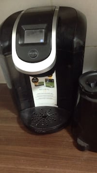 black Keurig coffeemaker