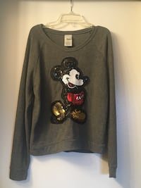 Women's small size grey long sleeve Mickey Mouse sweater Upland, 91784
