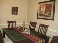Brown wooden dining table set Vienna, 22181