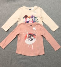 2 long sleeve shirts girl toddler 2T