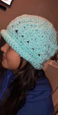 Handmade teal knitted hat (choose your color) Mission, 78573