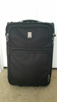 black and gray softside luggage