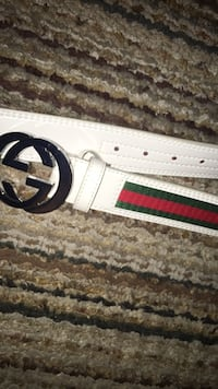 White and red gucci belt Fresno, 93727