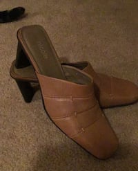 Shoe mules made by Nicole leather upper Norman, 73071
