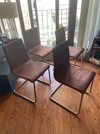 Cb2 chairs set of 4 plus table