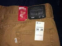 Levis 514 Men's Straight Jeans Size 34x34 Columbia, 21044