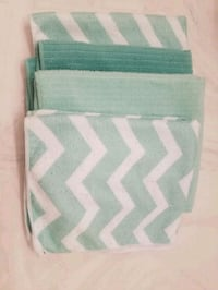 Mint small dish towels (tiny faint stain, 2nd pic) Belton