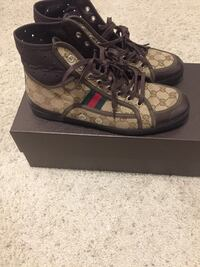brown and beige gucci monogram high tops with box Columbus, 43081
