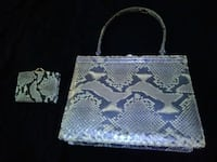 Authentic snake skin hand bag and coin purse 1456 mi