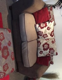 white and black floral fabric 2-seat sofa LONDON