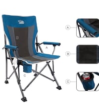 Timber Ridge Camping Chair with cup holder Montebello, 90640