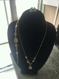 silver-colored necklace with pendant Santa Ana, 92701