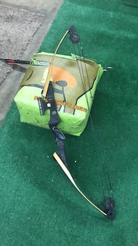 Darren compound bow 6 practice arrows and target bag Used left handed bow good condition Chillicothe, 45601