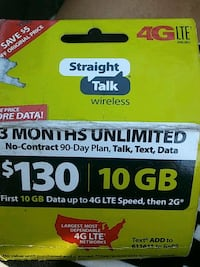 Straight Talk wireless card Value 130$ asking 100$ Centerville, 84014