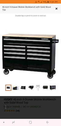 black and gray Craftsman tool cabinet Mississauga, L5R 3Z5