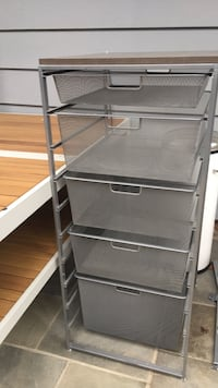 Elfa 5 drawer storage bin 24 mi