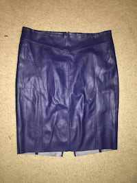 Faux Blue Leather Skirt Hyattsville, 20783