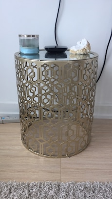 Gold accent side table