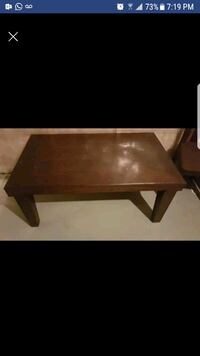 Wooden coffee table with 1 end table Calgary, T3K 0B6