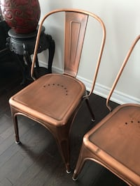 2 Gorgeous modern copper metal chairs Mississauga