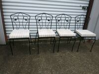4 vintage Cast Iron In / Outdoor Chairs Pensacola, 32514