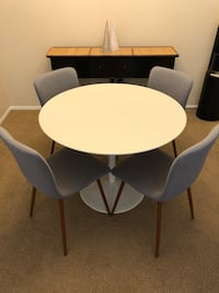 Mid Century Modern Round Table from Crate & Barrel Tustin, 92782