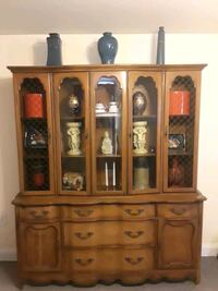 brown wooden china buffet hutch Baltimore, 21229