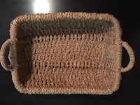 Woven Basket with Handles Vancouver, V6G 2C9