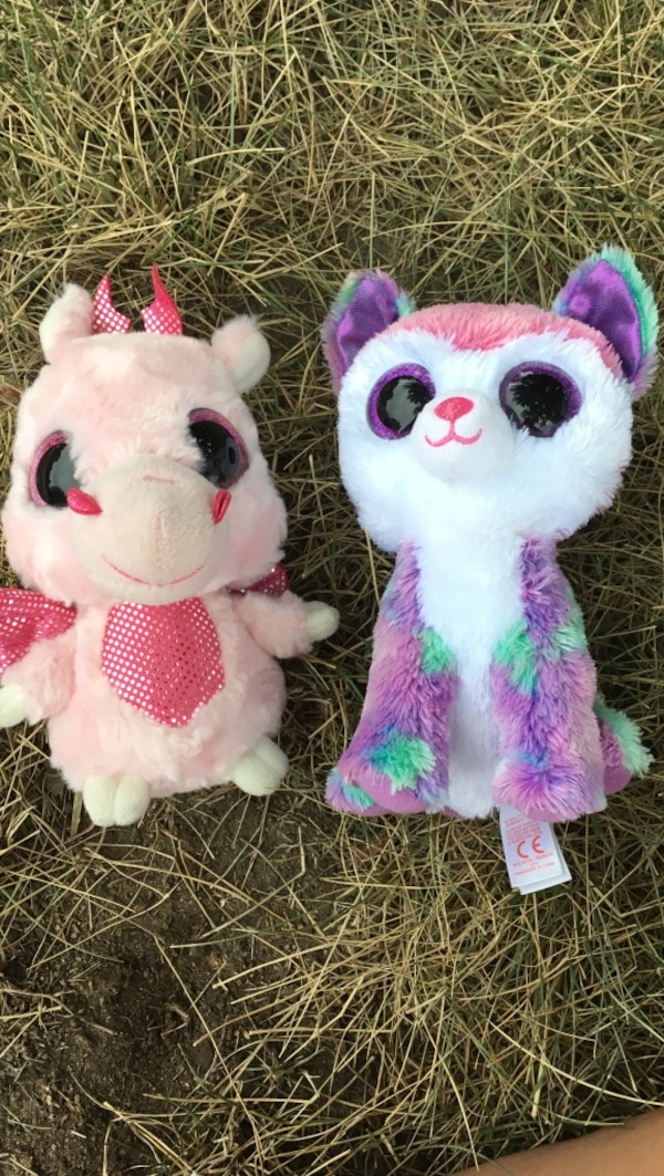 Used pink dragon and purple puppy ty beanie boos for sale in Littleton -  letgo 4b10afda839