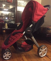 Britax red and black jogging stroller  New York, 11226