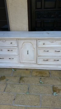 white and brown wooden dresser Burlington County, 08515