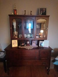 China and hutch cabinet antique100 plus old gem!